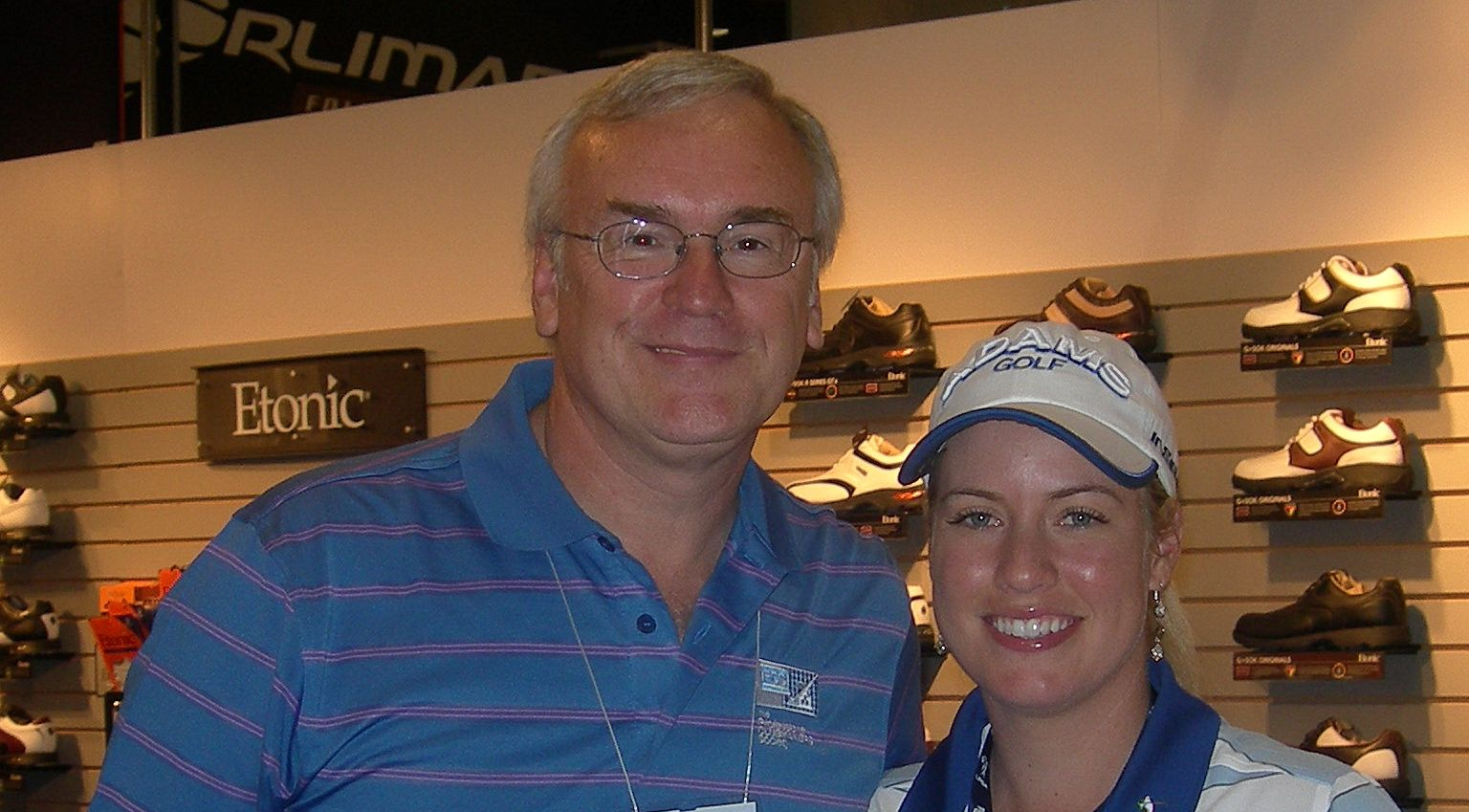 Master Fitter John Wade with LPGA Tour winner Brittany Lincicome